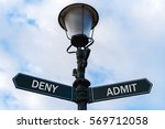 street lighting pole with two... | Shutterstock . vector #569712058