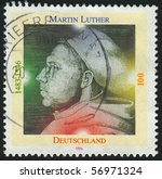 germany  circa 1996  stamp... | Shutterstock . vector #56971324