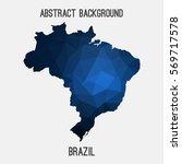 brazil map in geometric... | Shutterstock .eps vector #569717578