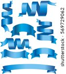 blue ribbon banners vector... | Shutterstock .eps vector #569729062