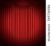 stage curtains with spot light... | Shutterstock .eps vector #569736586
