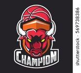 modern professional bull logo... | Shutterstock .eps vector #569738386