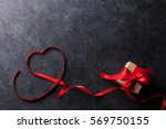 valentines day greeting card.... | Shutterstock . vector #569750155