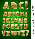 vector golden alphabet | Shutterstock .eps vector #56975623