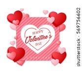 modern romantic happy valentine ...   Shutterstock .eps vector #569756602