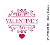 modern romantic happy valentine ... | Shutterstock .eps vector #569756638