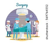 medical surgery flat... | Shutterstock .eps vector #569764552