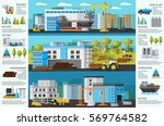 industrial factory brochure... | Shutterstock .eps vector #569764582