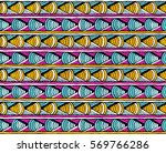 seamless tribal print with... | Shutterstock .eps vector #569766286