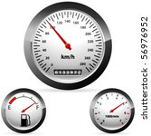 car speedometer and dashboard | Shutterstock .eps vector #56976952