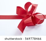 christmas red ribbon isolated... | Shutterstock . vector #569778466