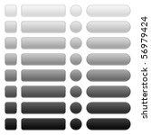 8 blank web 2.0 button... | Shutterstock .eps vector #56979424