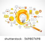 business concepts  idea loading ...   Shutterstock .eps vector #569807698