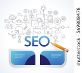 concept of seo technology  web... | Shutterstock .eps vector #569808478