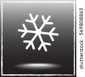 snowflake sign icon  vector... | Shutterstock .eps vector #569808865