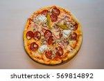 delicious fresh made italian... | Shutterstock . vector #569814892