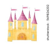 castle cute illustration | Shutterstock . vector #569826202