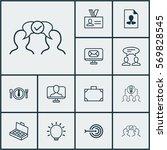 set of 12 business management... | Shutterstock .eps vector #569828545