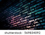 software developer programming... | Shutterstock . vector #569834092