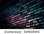 software developer programming... | Shutterstock . vector #569834092