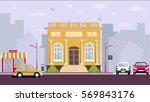 court house building | Shutterstock . vector #569843176