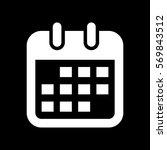 Calendar Icon. White Icon On...