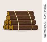 logs tree icon isolated on... | Shutterstock .eps vector #569844106