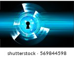 safety concept  closed padlock... | Shutterstock .eps vector #569844598