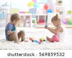 Cute Little Children Playing...
