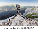 Action Camera Mounted On A...
