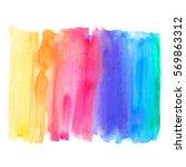 abstract watercolor art hand...   Shutterstock . vector #569863312