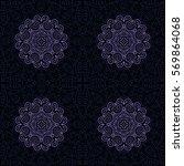 seamless background. ethnic... | Shutterstock .eps vector #569864068