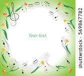notes. tulips. romance. frame.... | Shutterstock .eps vector #569867782