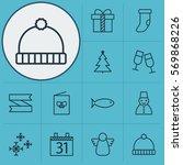 set of 12 celebration icons....   Shutterstock .eps vector #569868226