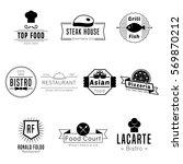restaurant or food truck... | Shutterstock .eps vector #569870212
