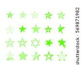 set of stars. | Shutterstock .eps vector #569871982