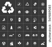 ecology and alternative energy... | Shutterstock .eps vector #569889085