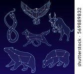 vector set of constellations... | Shutterstock .eps vector #569889832