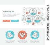 flat line business concept web... | Shutterstock .eps vector #569894476