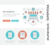 flat line business concept web... | Shutterstock .eps vector #569894566