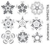 flower icon collection set  ... | Shutterstock .eps vector #569902756