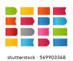 different color shopping tags... | Shutterstock .eps vector #569903368