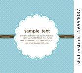 template frame design for... | Shutterstock .eps vector #56991037