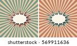 vintage background cartoon pop... | Shutterstock .eps vector #569911636