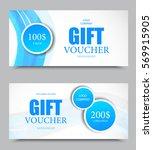 gift company voucher template... | Shutterstock .eps vector #569915905