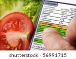 reading a nutrition label on... | Shutterstock . vector #56991715