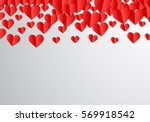 valentines day card with... | Shutterstock .eps vector #569918542