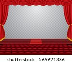vector transparent empty stage... | Shutterstock .eps vector #569921386