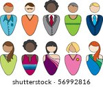 a collection of ten adults. you ... | Shutterstock .eps vector #56992816