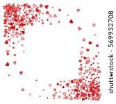 square corner red frame or... | Shutterstock .eps vector #569932708
